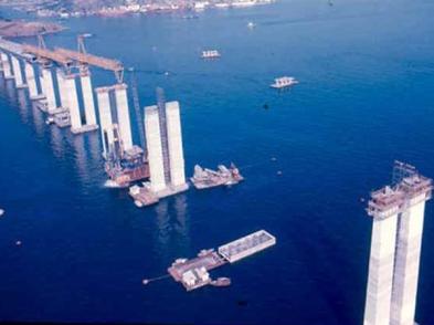 construcao_ponte rio niteroi_pilares